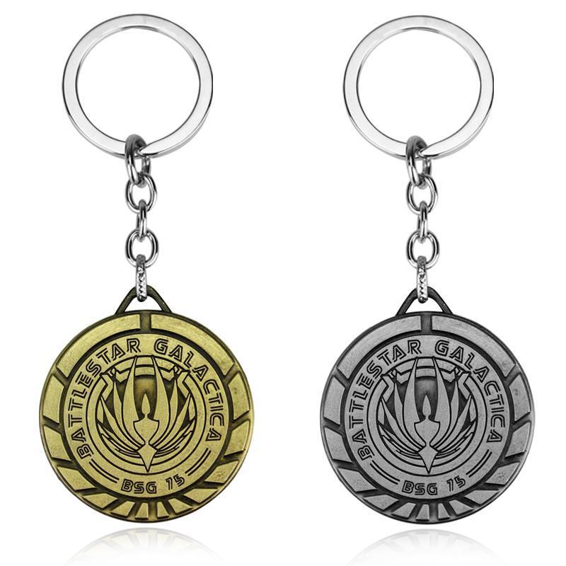 Mode Battlestar Galactica Keychain Can Ship Shipping Metal Key Ringe für Geschenk Chaveiro Schlüsselanhänger Schmuck für Autos