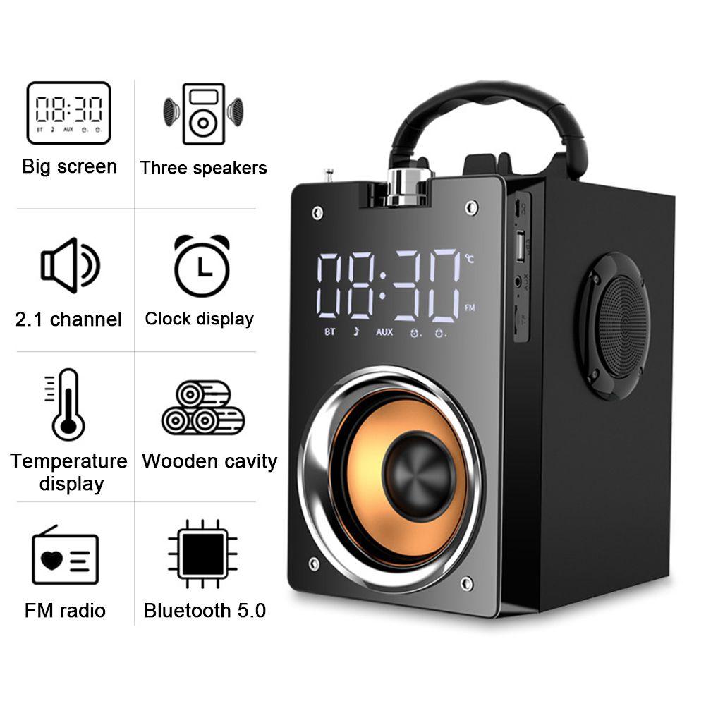 Super Bass Bluetooth-динамики портативной колонны Высокосистема 3D Стерео сабвуфер музыкальный центр поддержки AUX TF FM Radio Hifi Boombox