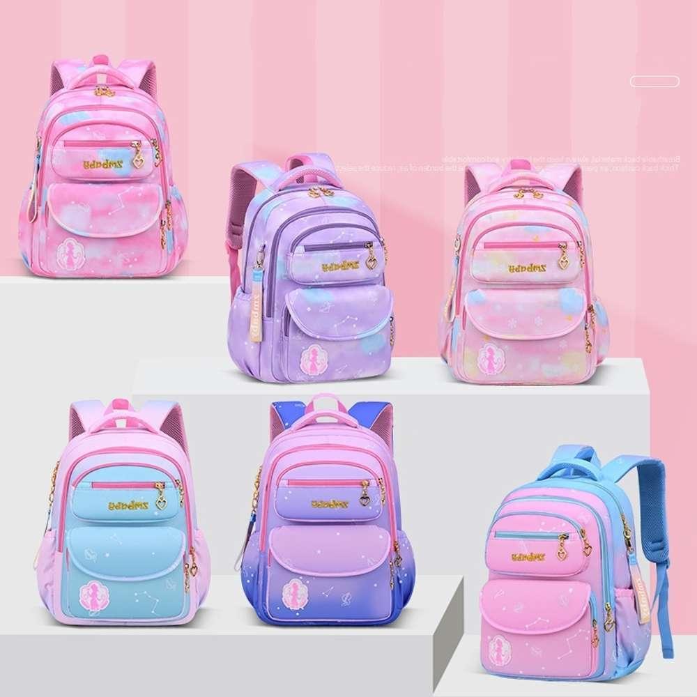 Для элементарной девушки водонепроницаемый оксфорд ткань розовый мешок Enfant школьные сумки рюкзак девушки милый лук детская сумка