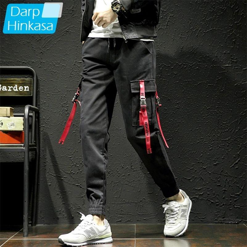 New Black Pants Men Hip Hop Cargo Pants Men Streetwear Harajuku Jogger Sweatpant 100% Cotton Trousers Men Pants 5XL 201109