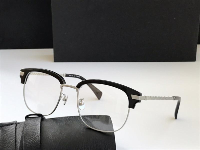 Diseñador de lujo nuevo computadora retro medio hombres moda mujer marco de lectura vidrio transparente vidrio lente metal gafas fram ajpfa