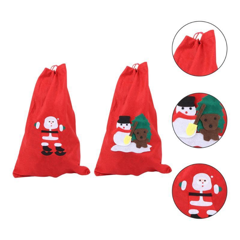 Decoraciones de Navidad 2pcs Bolsa de regalo delicada de almacenamiento portátil regalo para el hogar