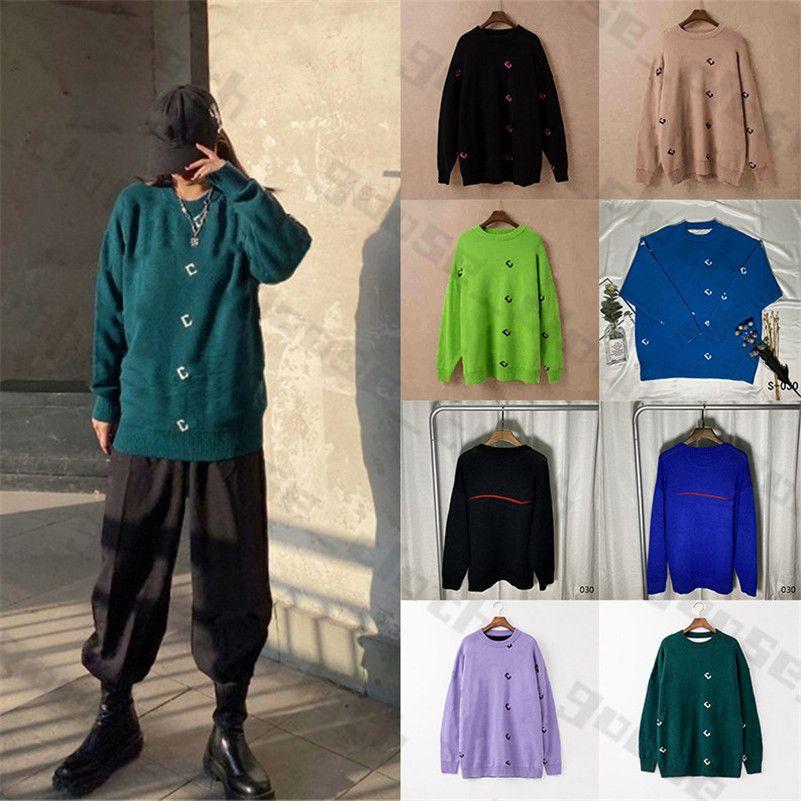 20ss Yeni Bayan Erkek Tasarımcılar Kazak Kazak Hoodie Uzun Kollu Kazak Kazak 2021 Triko Kadın Giyim Kış Giysileri 2020