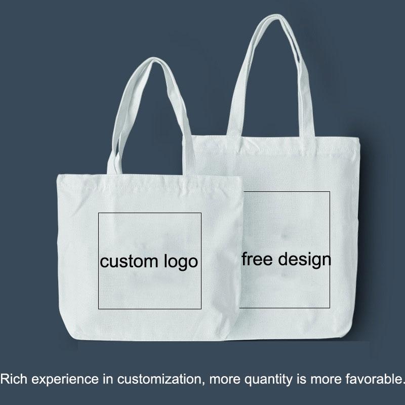 Boş Kanvas Çanta Taşınabilir Logo Özel Pamuk Çevre Dostu Pamuklu Alışveriş Çantaları Tasarımcılar Çanta VTKY2227 Özelleştirilmiş Baskı VXGJA