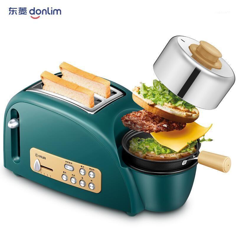 3 in 1 Frühstücksmaschinen Brot Toaster Spiegelei Haushalt gedämpft Egg Brei Toast Multifunktions Frühstückshersteller 220V1
