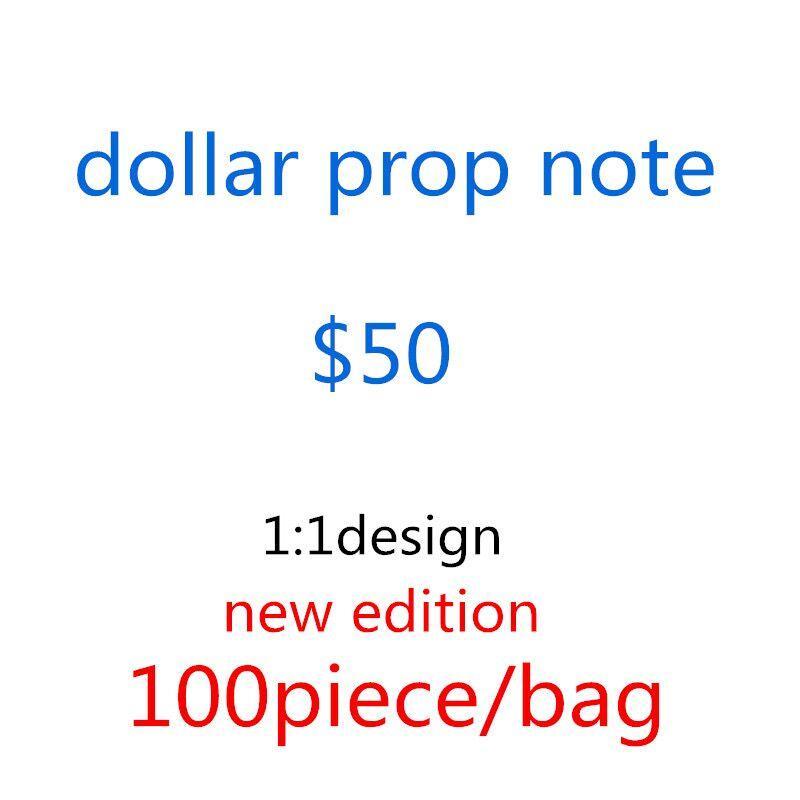 Dólar estadounidense Hot Sales Movie Pop BankNote 50 Dolars Party Fake Money Bar Prop Money Games Collection Regalos 012
