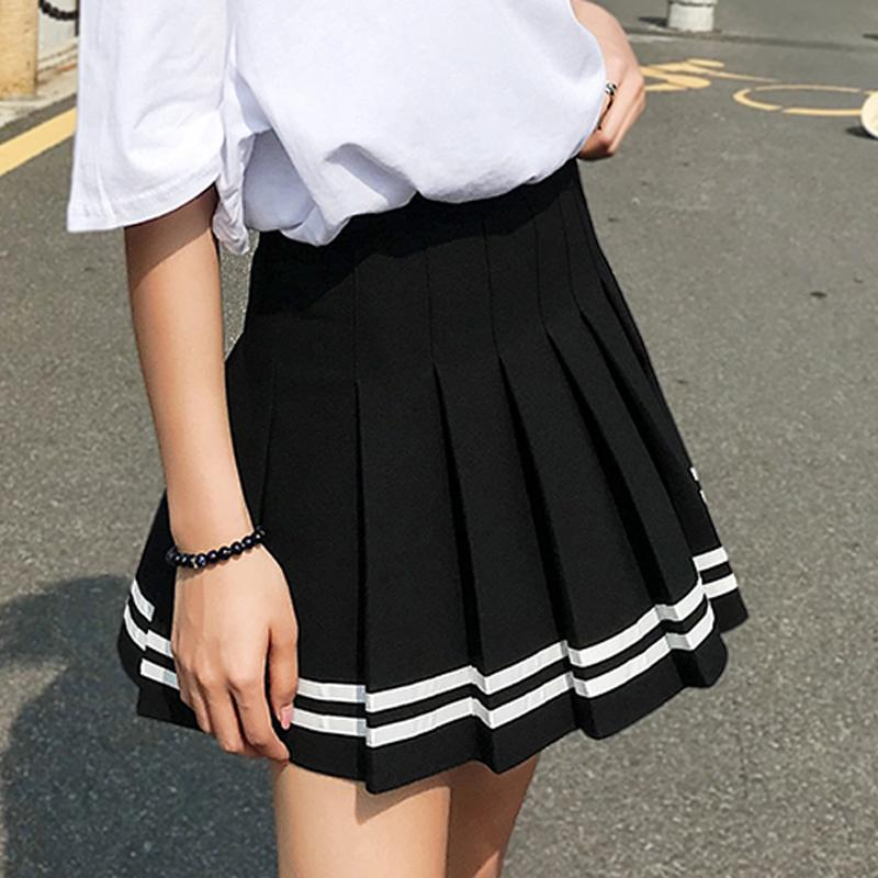 goth y2k 2020 saia plissada mulher mulher roupas xadrez mini faldas mujer moda acessórios de vestuário moda menina menina z1122