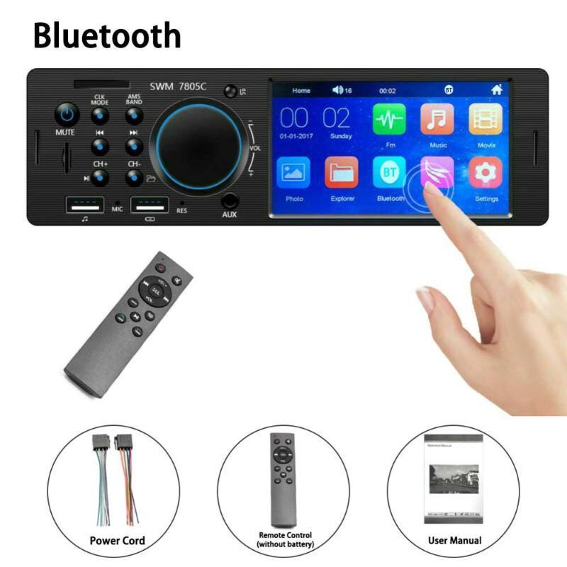 Auto Audio 4.1 Zoll HD 1 DIN-Radio Touchscreen Autoradio Ersetzen Sie WMA Bluetooth aux ersetzen. In-Dash MP5 Udisk Stereo Coche