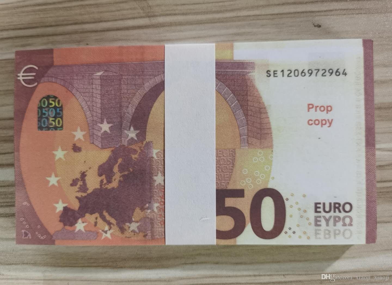 PROPS DE JOGO VENDENDO ASSIMULAÇÃO DE EURO EURO SIMULAMENTO 50 CRIANÇAS DIY FÁBRICA APROPS VELHA MOEDA DÓLEO DE DÓLO APROPS MAGIC OALLG