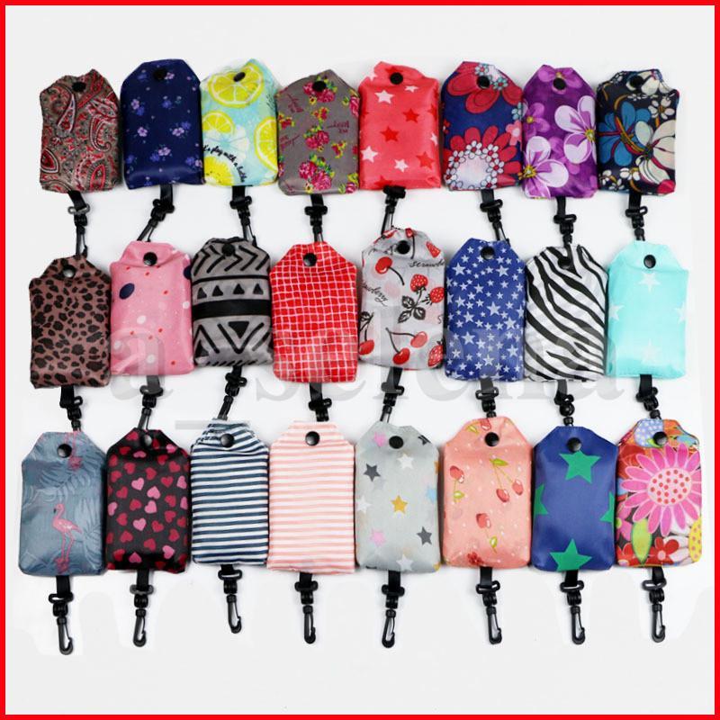 تخزين المنزل النايلون أكياس التسوق طوي قابلة لإعادة الاستخدام صديقة للبيئة حقيبة التسوق أكياس التسوق السيدات
