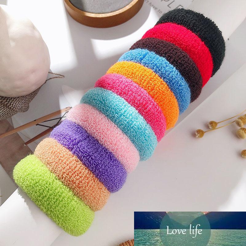 Hot 100 PCS / LOT NIÑOS Cuerda para niños Accesorios para el cabello Scrunchy Elastic Bandas de pelo Decoraciones para niñas Decoraciones de goma Banda de goma al por mayor