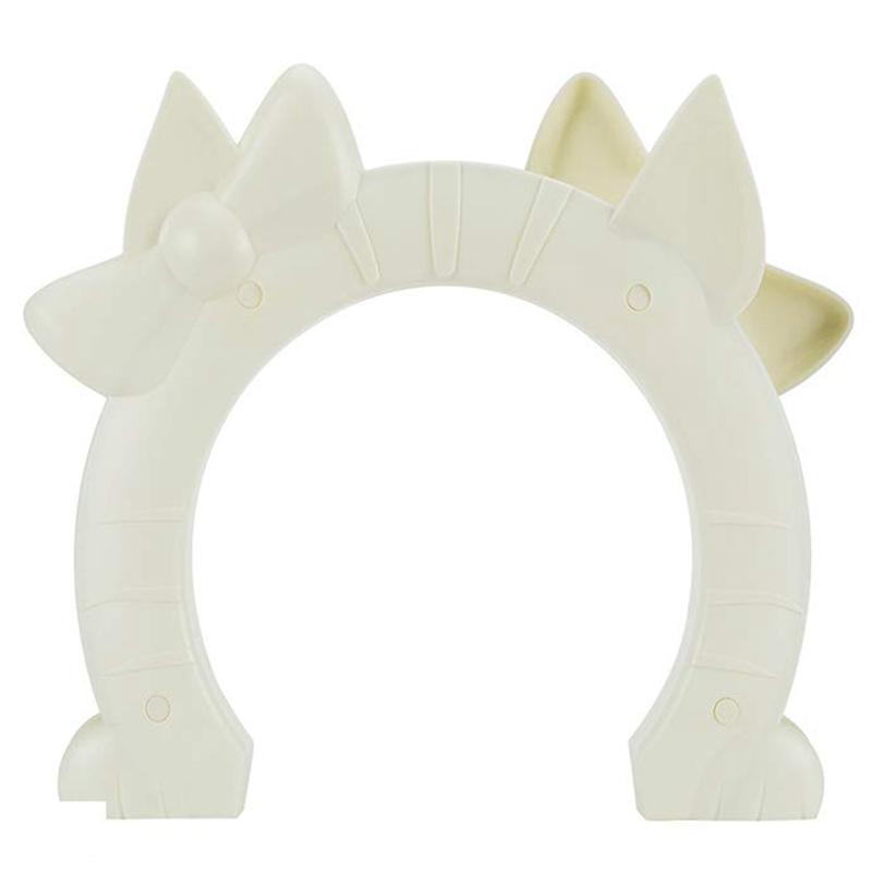 Porta do gato, porta de estimação para gatos porta interior 2 vias buracos forma passe se encaixa oco núcleo de vidro sólido para gatos até 21 libras, lixo