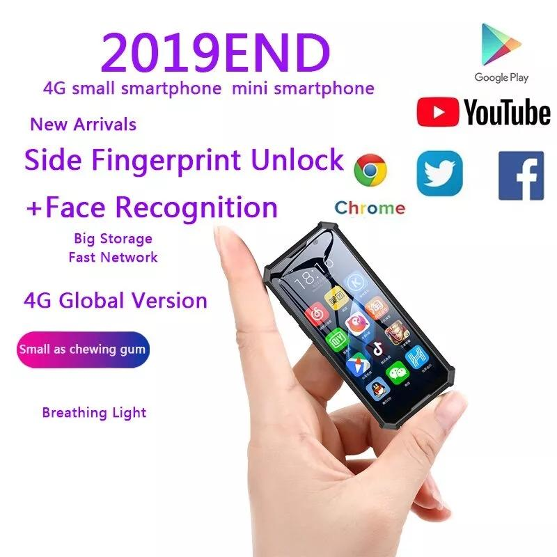 Melrose 2019END Mini Android Smartphone 2GB 32GB 4G Fingerprint Network Wifi GPS 3.5'' Small Size Face Recognion Backup Student Mobile Phone