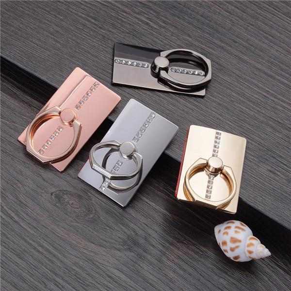 Staffa di montaggio del supporto di barretta di cristallo a 360 gradi anello universale per telefono 9 x 8 7 6 SAM Sung Huawei Telefoni cellulari 20
