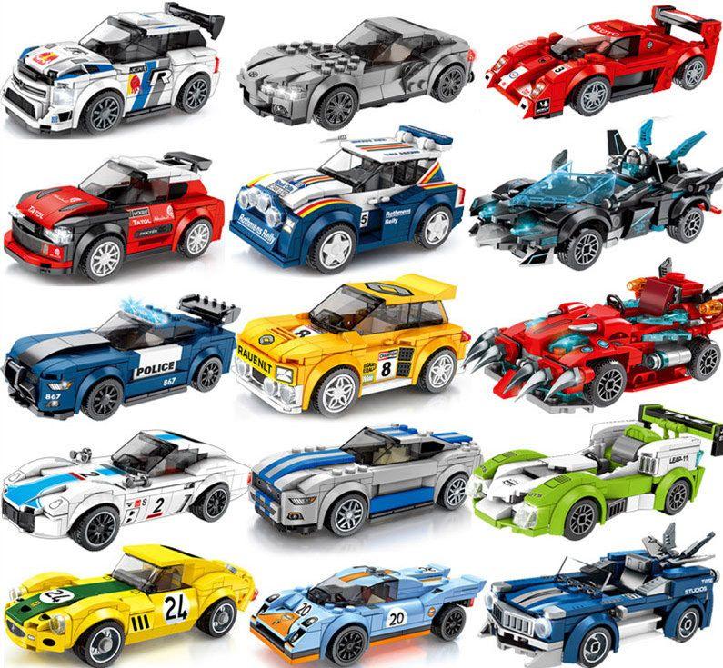 Super Racing Sport famosa auto Mondo automodelli Ragazzi montatiRealizzazione particelle Building Block regalo dei giocattoli Giovani