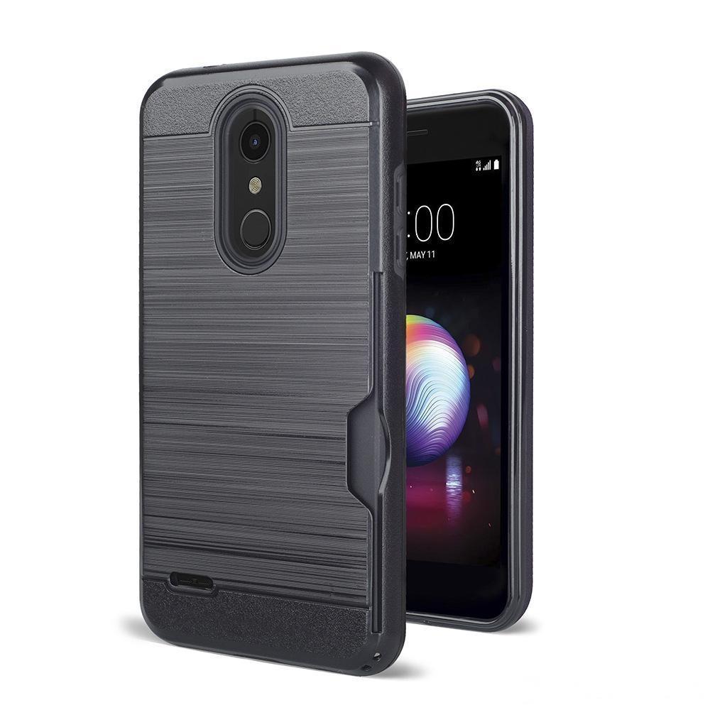 Für LG Stylo 4 Pinsel-Karten-Slot-Hülle für LG K30 K10 2018 Samsung Galaxy J7 2018 J3 2018 OPP-Tasche