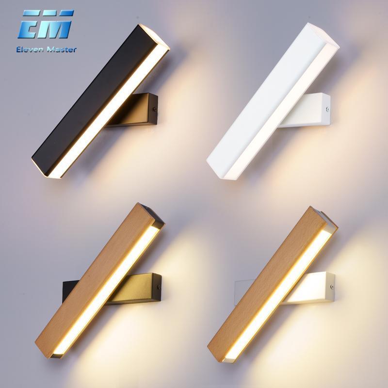 Lampe murale Moderne LED Lumière à LED en bois SCONCE 110V 220V Chambre à vanité Direct Creative Aisle ZBD0027