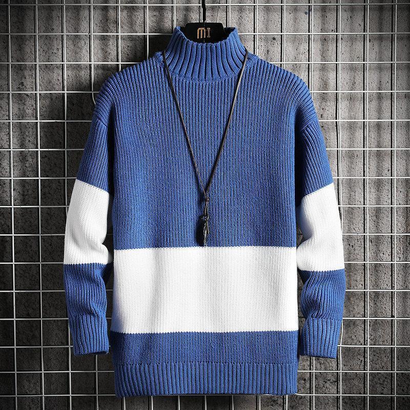 Mens New Spring Automne Pull Streetwear Japan Spoupie Sweater Mâle Casual Harajuku Vêtements à manches longues Turtelneck