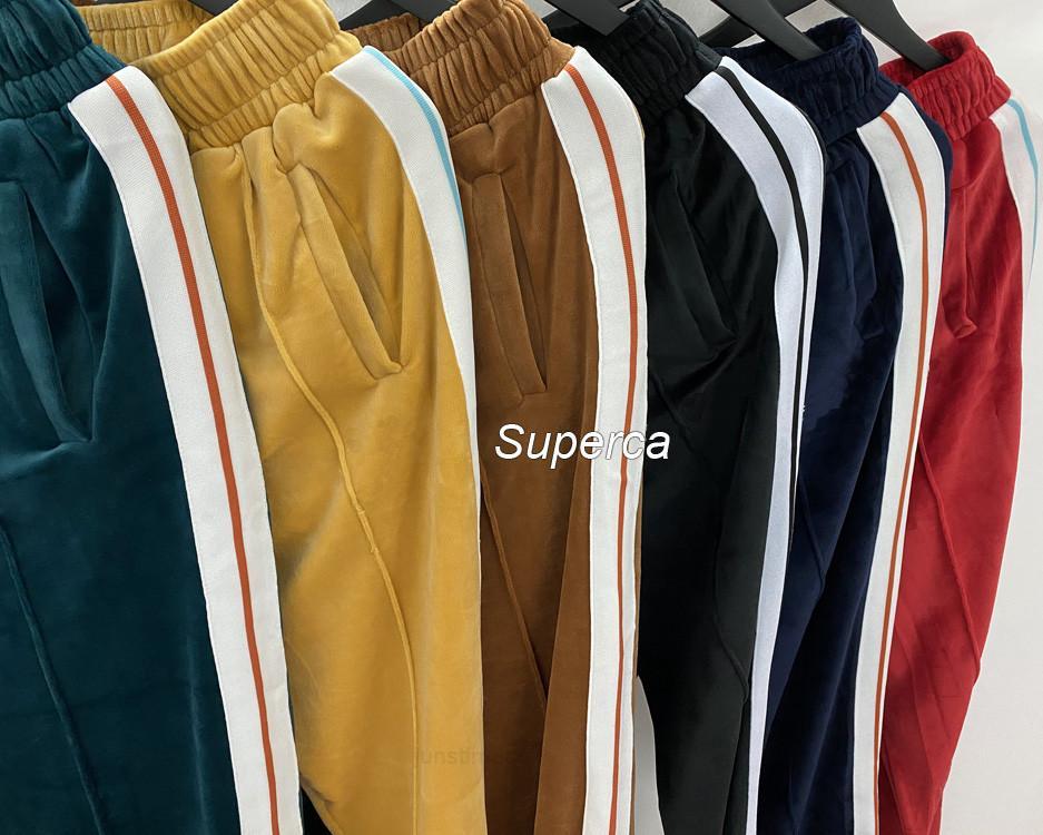Erkek Adam Tasarımcılar Giysileri 2020 Kadife Eşofman Erkek Ceket Hoodie veya Pantolon Erkekler S Giyim Spor Hoodies Eşofman Euro Boyutu S-XL PA2578