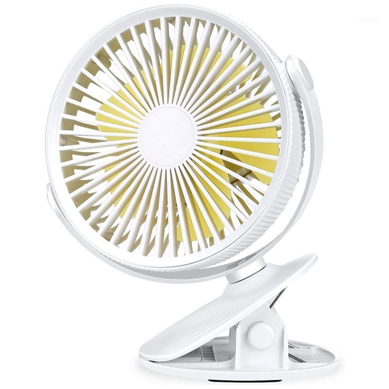 Clipe no ventilador ventilador ventilador recarregável bateria operado mesa portátil poderoso 3 velocidades de 360 graus rotatable pessoal1