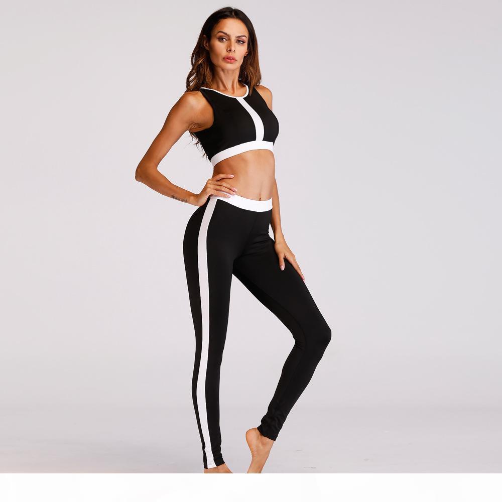 2018 Damen Trainingsanzug Strumpfhosen Sportswear Fitness Yoga Anzug Sport Set für Funnen Fitnessstudio Kleidung Training Zwei Teil Jumpsuit Crop Top