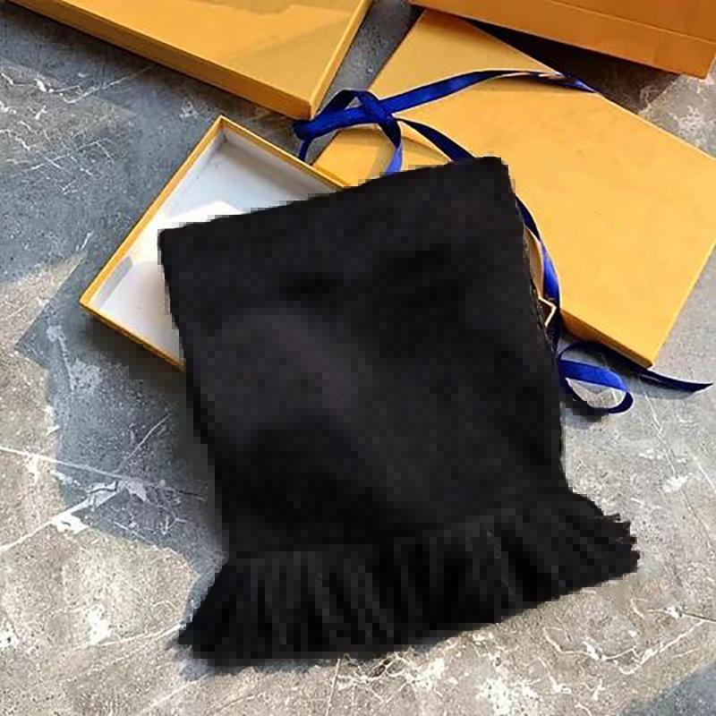 Bufanda de invierno unisex 100% bufanda de lana clásica letra envoltura unisex damas y niños cachemira chal chales lame con caja jy