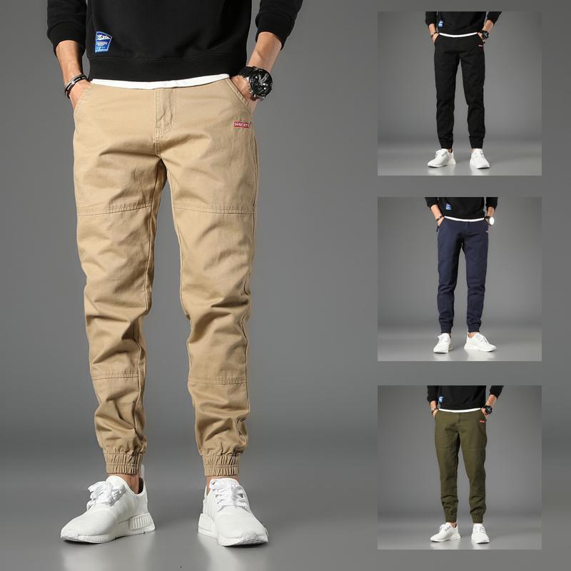 2021 New Japanese Style Fashion Men Jeans Vintage Designer Casual Cargo Pants Hombre Khaki Harem Trousers Streetwear Hip Hop Joggers 5nas