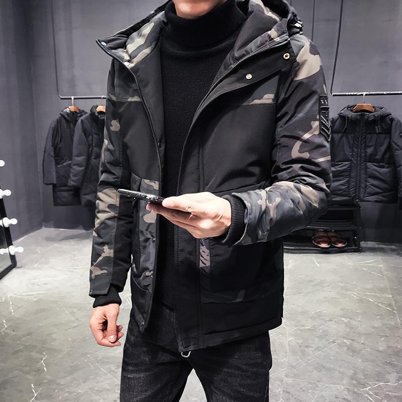 الرجال أسفل ستر الرجال الشتاء سترات و معاطف ملابس خارجية 2021 التمويه منفذها سترة سترة واقية سميكة دافئة الذكور