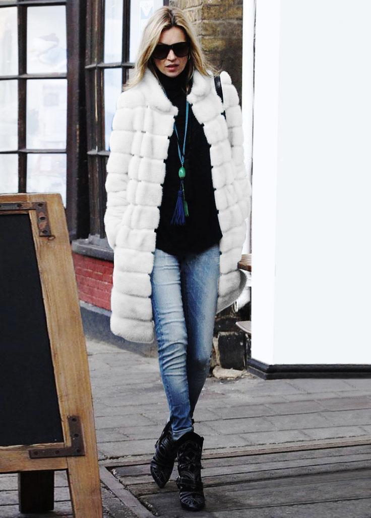 Abrigo de piel sintética Manteau Femme HIVE 2020 Mujeres de invierno Outwear Casaco de Pele Falso Soporte Collar Abrigo largo Chaqueta X7151
