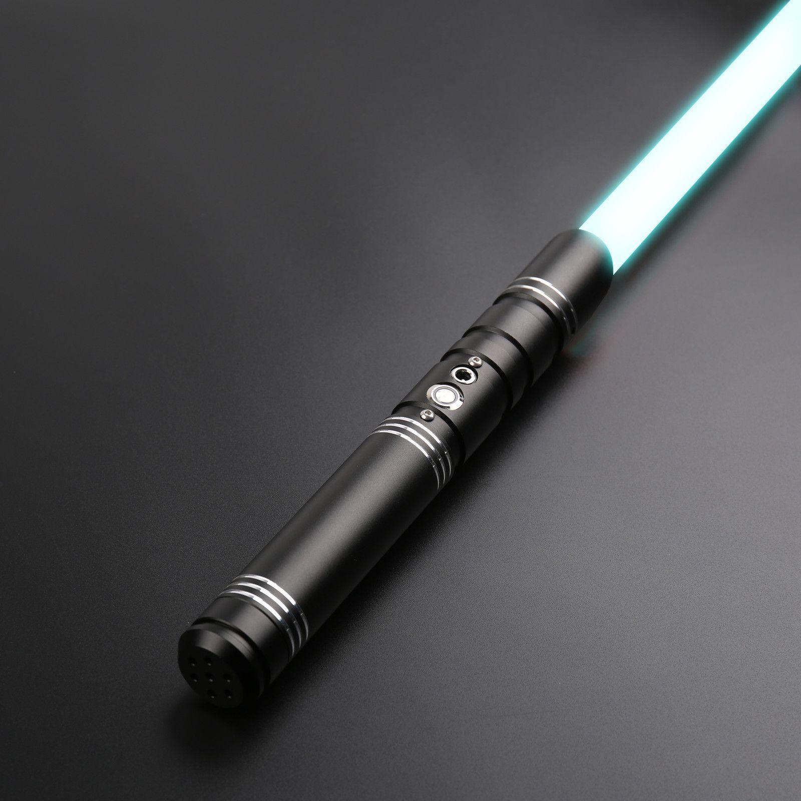 TXQSaber RGB Lightsaber Metal Kolu Blaster Foc Kilitleme Ses Ayarı 12 Renk Değişim 6 Soundfonts Sabers Ağır Dueling Q0113