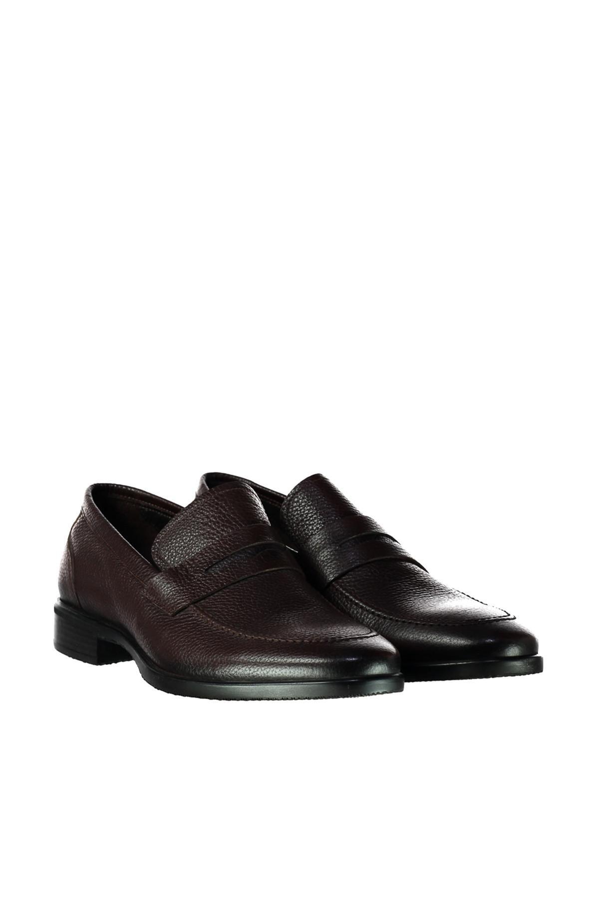 Zapatos S holgazán del cuero auténtico Derimod hombres del café'