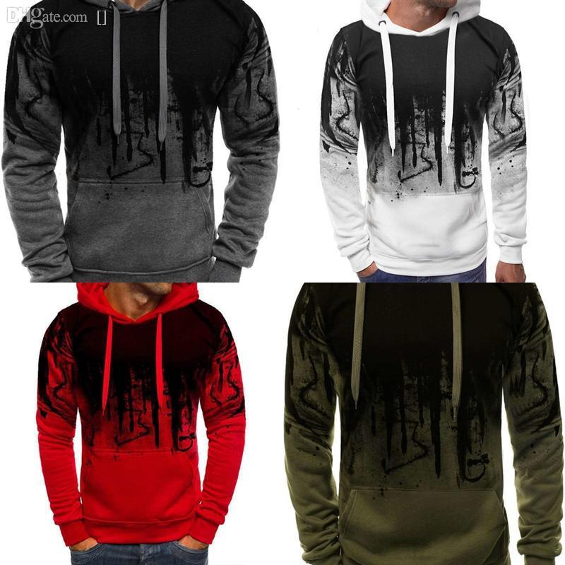 GCuIF Men's Limited Winter Men Long Sleeve Casual Splash ink mens sweater pullover man deisgner Sweater Coat Plaid Print Cardigan and Autumn