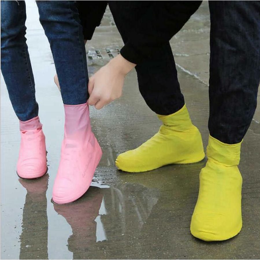 Латекс водонепроницаемый дождевой обувь охватывает анти дождь Водовая обувь одноразовые скользящие резиновые резиновые дождевые ботинки ботинки Обувь для обуви RRB3351