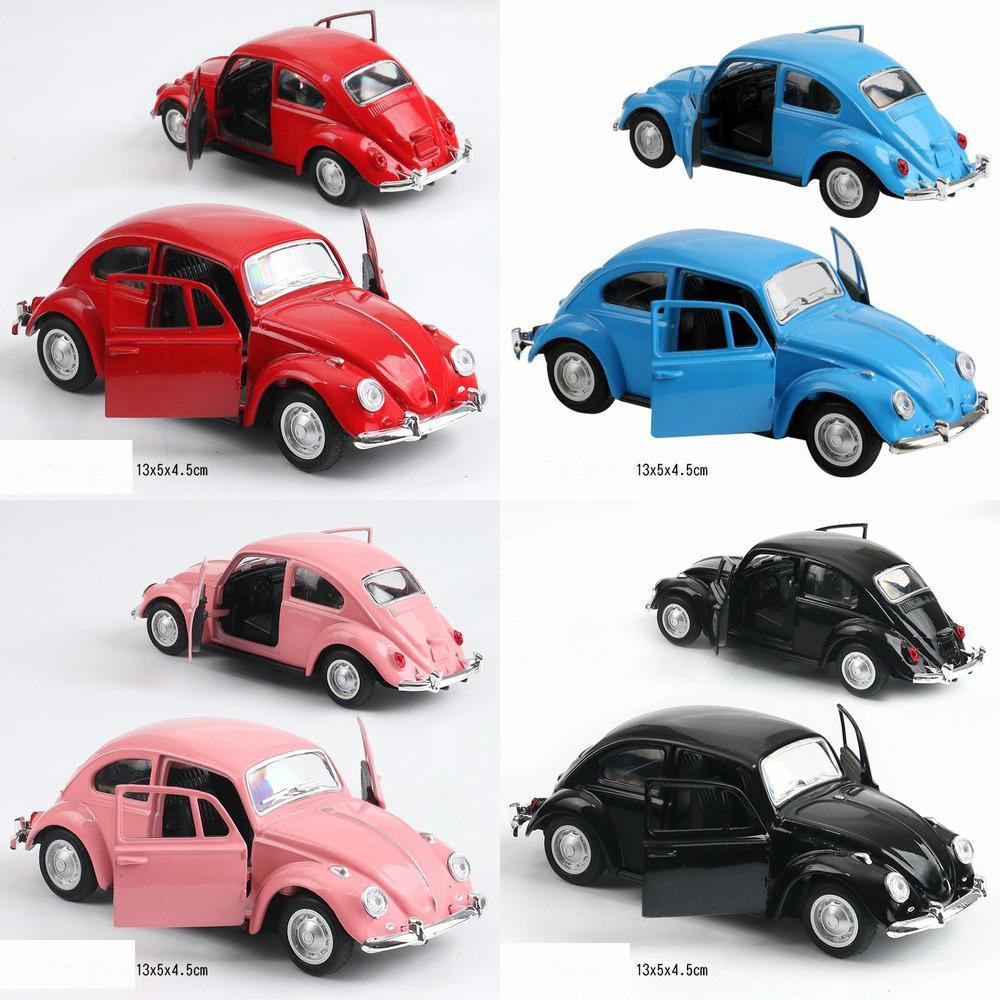 High Simulation Retro Classic Volkswagen Beetle, 1:36 Modelos de Carro de Liga, Metal Diecasts, Pull Back Toy Veículos, Frete Grátis Y1130
