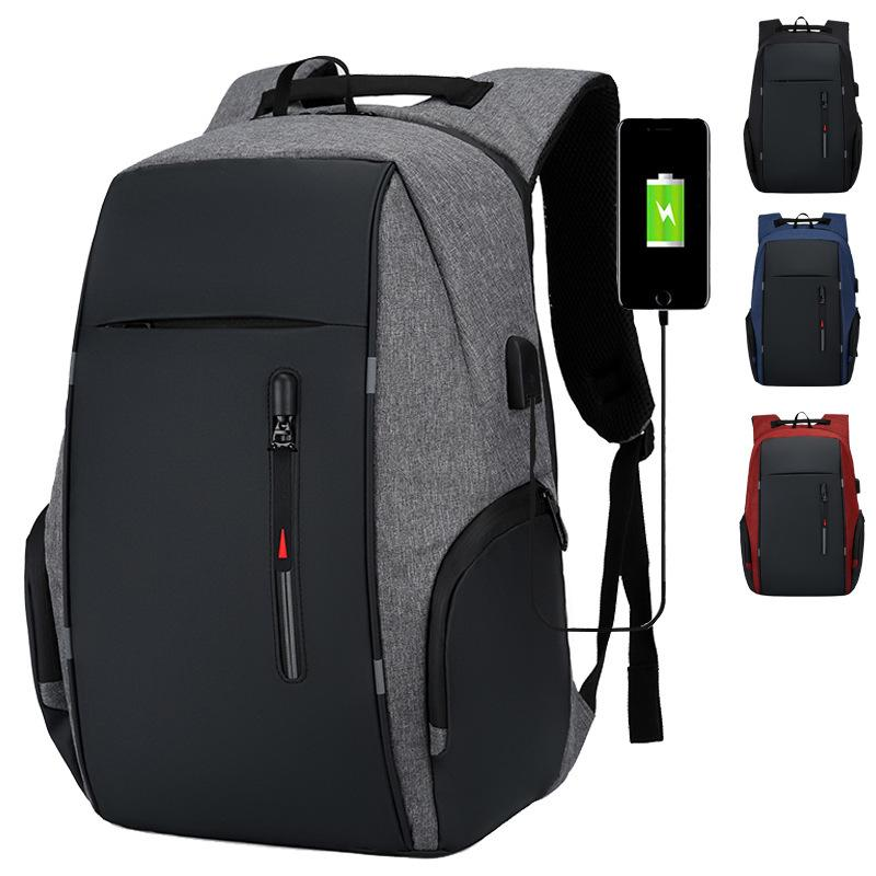Men USB Charging Waterproof Laptop Backpack Women Casual Oxford Male Business Bag 15.6 Inch Computer Notebook Backpacks C0424
