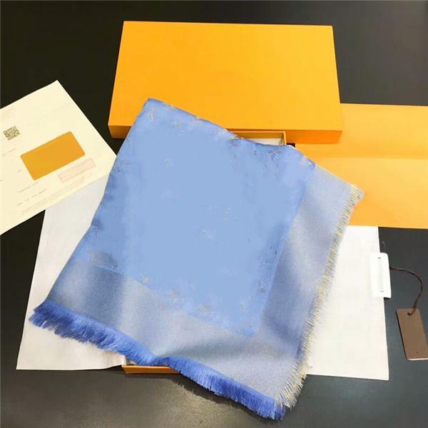 Kadınlar için Yeni Eşarp Lüks Mektup Desen Ipek Yün Kaşmir Altın İplik Tasarımcısı Eşarplar Boyutu 140x140 cm