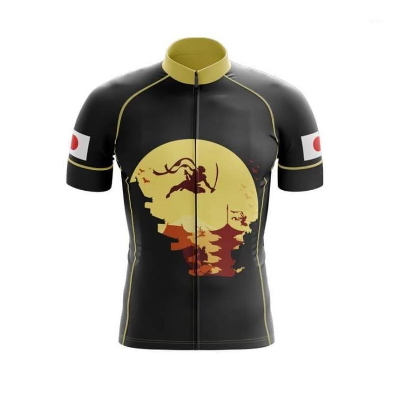 Новая мужская Япония Team Велоспорт Джерси Индивидуальные Дорожные гонки Гонка Лучшие Велоспорт Одежда Быстрая Сухая / Дышащий износ1
