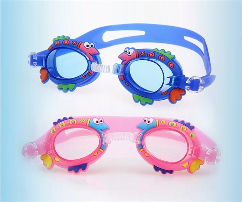 Niedliche Cartoon Kinderbrille Anti Nebel Für Kinder Jungen Mädchen Schwimmen Gläser Wasser Sport Baby Brille Silikon Spiegel Ring 6BJ y
