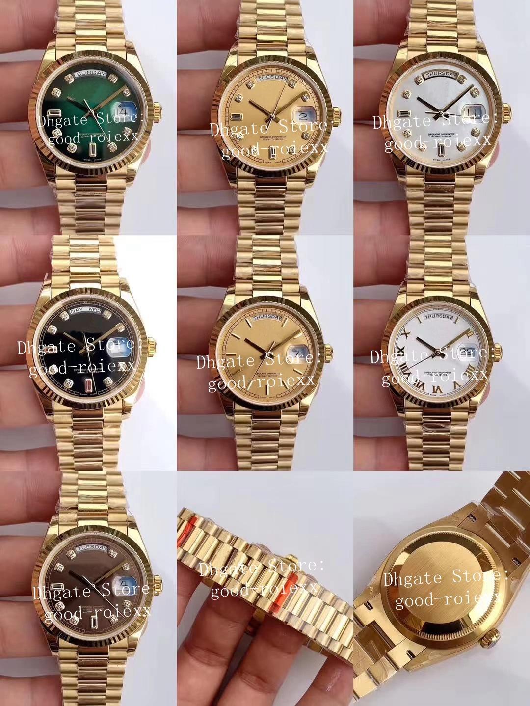 9 estilo Unisex Midsize relógios Mens automático Cal.3255 Watch's Watch Yellow Gold Ladies Data 128238 homens EW Fábrica ETA 36mm relógios de pulso