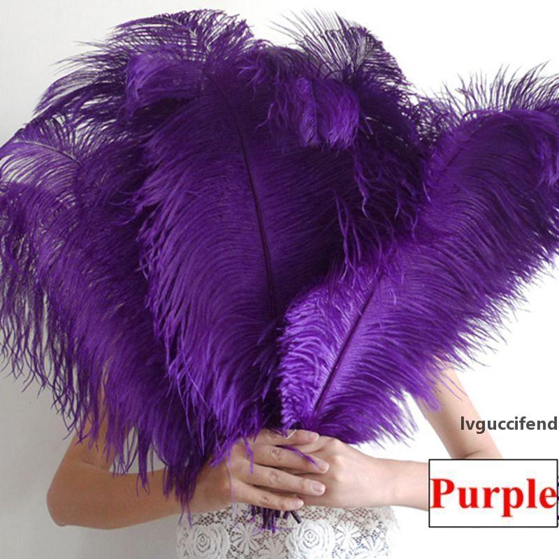45-50 cm piuma di struzzo 10pcs Purple Ostrich piuma 18-20 centrotavola tavola per la tavola di nozze Centerpieces Decorazione del partito Performance