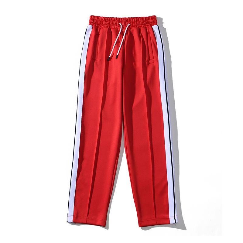 Sweetstring Rainbow Stripes Sweetpants Diseñador Zipper Sweetpants Suelte Casual Mens Pantalones M-XXL INMPB