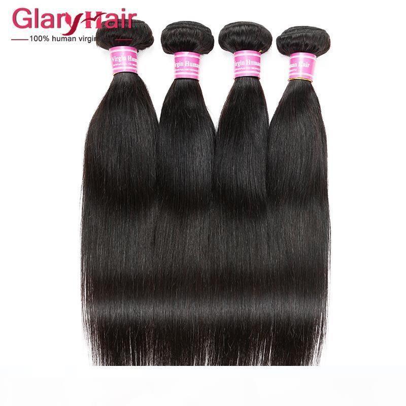 Top Qualität unverarbeitete menschliche Haarverlängerungen Gerade Jungfrau Haarfeste billige brasilianische flechten haarwebart bündel großhandel produkte 5 stücke