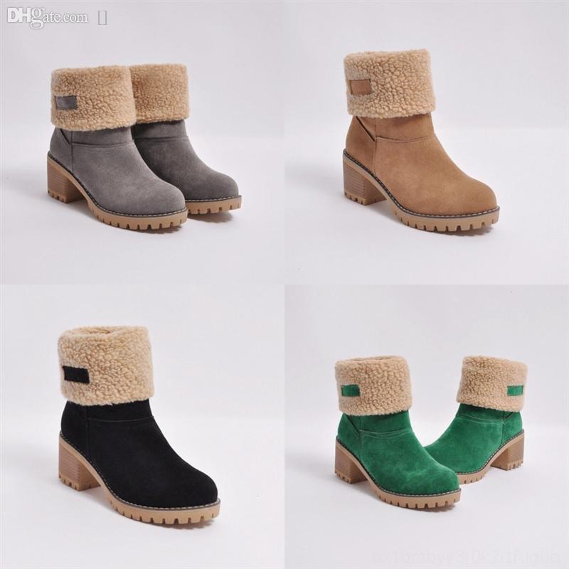 Bemfa подлинная зима теплый мягкий на высоком каблуке кисточка высокого качества овчины сапоги присутствующие ботинки женские кожаные дизайнерские снежные женщины середины теленка
