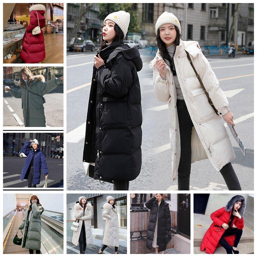 2021 hiver Nouvelle veste rembourrée de coton coréenne pour femmes épaissie manteau en vrac mi-long manteau de coton en coton veste rembourrée
