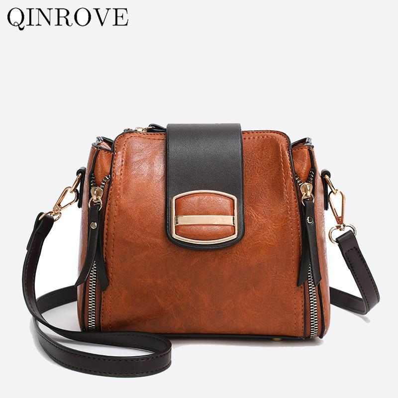 Сплошной цветной мешок кожаный коричневый винтаж на молнии женский дизайнер Crossbody сплошной цветной сумка модный черный PU приехать новый CCQDQ