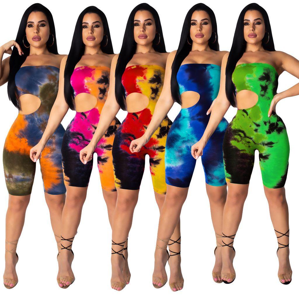 Tasarımcı 2021 Elbise Listesi Baskı Bir Boyun Açık Geri Seksi Tulum Bahar Ve Yaz Kadın Elbise Modası Kadın Modelleri