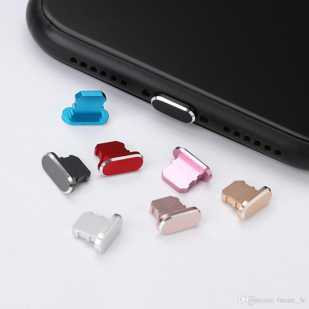 Bunte Metall Micro USB-Staub-Stecker-Anti-Staub-Ladegerät Dock-Stecker-Stopper-Kappe-Abdeckung für Android-Handy-Zubehör