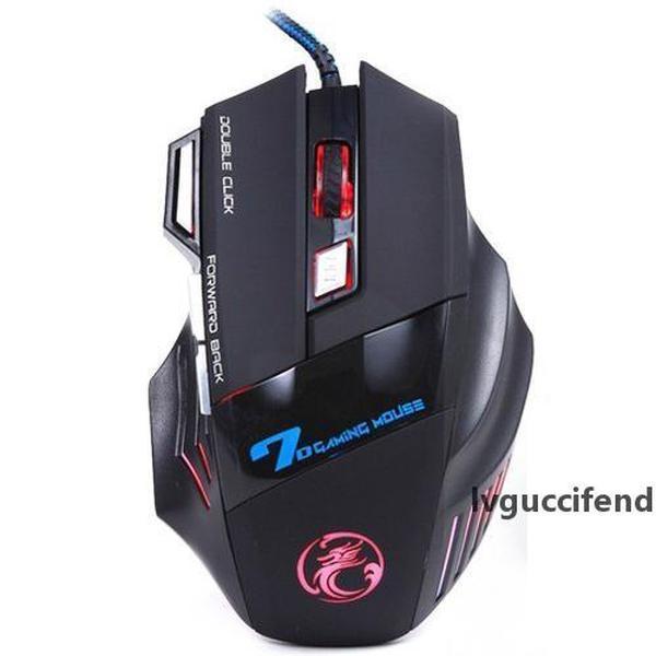 Profesyonel Kablolu Oyun Fare 7 Düğme 3200 DPI LED Optik USB Bilgisayar Mouse Gamer Fareler X7