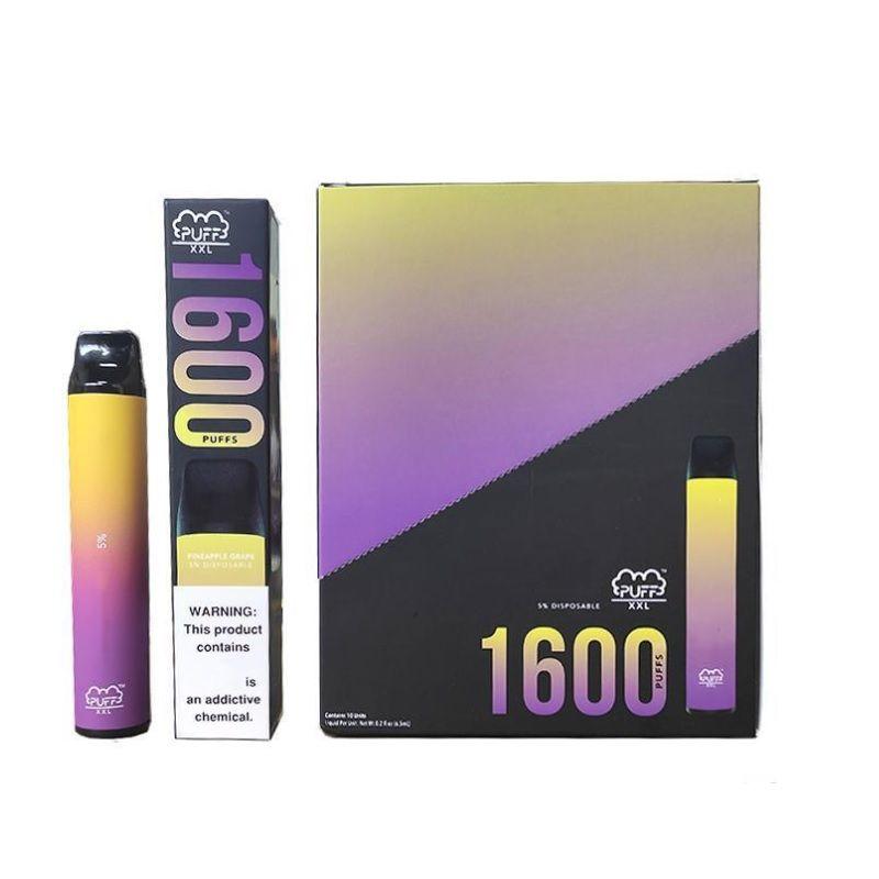 퍼프 바 XXL 일회용 vapes 퍼프 최대 6.5mAh 탱크 카트리지 1000mAh batterydisposable 전자 담배 퍼프 바 XXL 1600 퍼프
