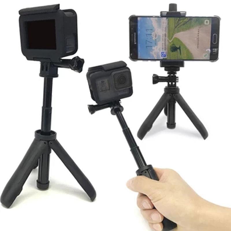 Monopod Tripod Selfie Stick Mini Ручной Стенд Стабилизатор сцепления Профессиональный 3 Ногоногий Кронштейн Расширяющийся противоскользящий Усадочный